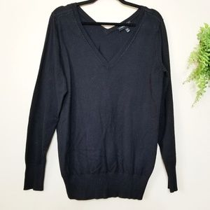Lane Bryant | Black V-Neck Pullover Sweater